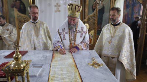 Biserica din Măgureni, veche de peste 120 de ani, târnosită de PS Justin