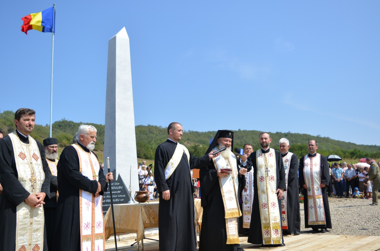 Sfințirea monumentului voievodului Gelu Românul la Așchileul Mic