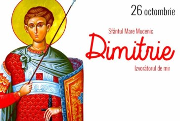Agenda ierarhilor din Mitropolia Clujului, de sărbătoarea Sf. M. Mc. Dimitrie, Izvorâtorul de Mir și a Sf. Cuv. Dimitrie cel Nou
