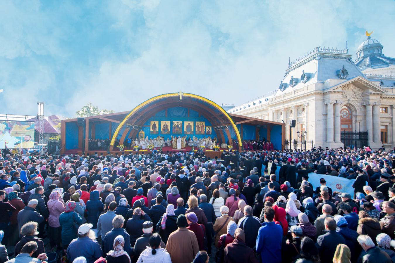 Înaltpreasfințitul Părinte Andrei, la hramul Catedralei Patriarhale, Sf. Dimitrie cel Nou, Ocrotitorul Bucureștilor