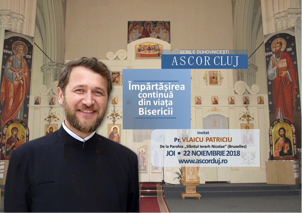 Seară duhovnicească A.S.C.O.R. Cluj – Invitat: Pr. Vlaicu Patriciu
