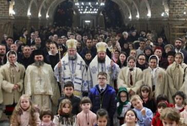 """<span style='color:#B00000  ;font-size:14px;'> </span> <br> Sfânta Liturghie, la Catedrala Episcopală """"Sfânta Treime"""" din Baia Mare</p>"""