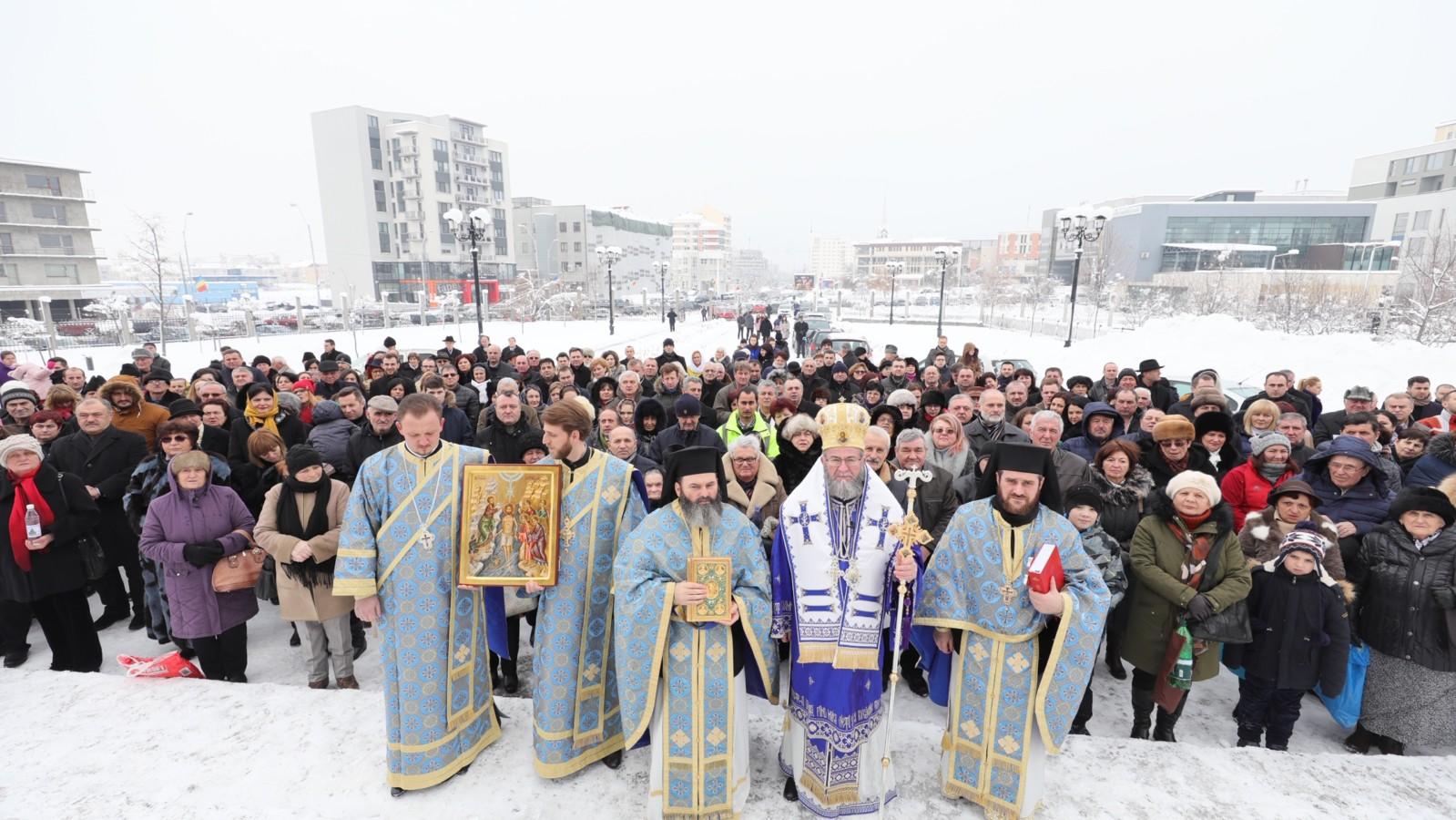 """Boboteaza, la Catedrala Episcopală """"Sfâna Treime"""" din Baia Mare"""