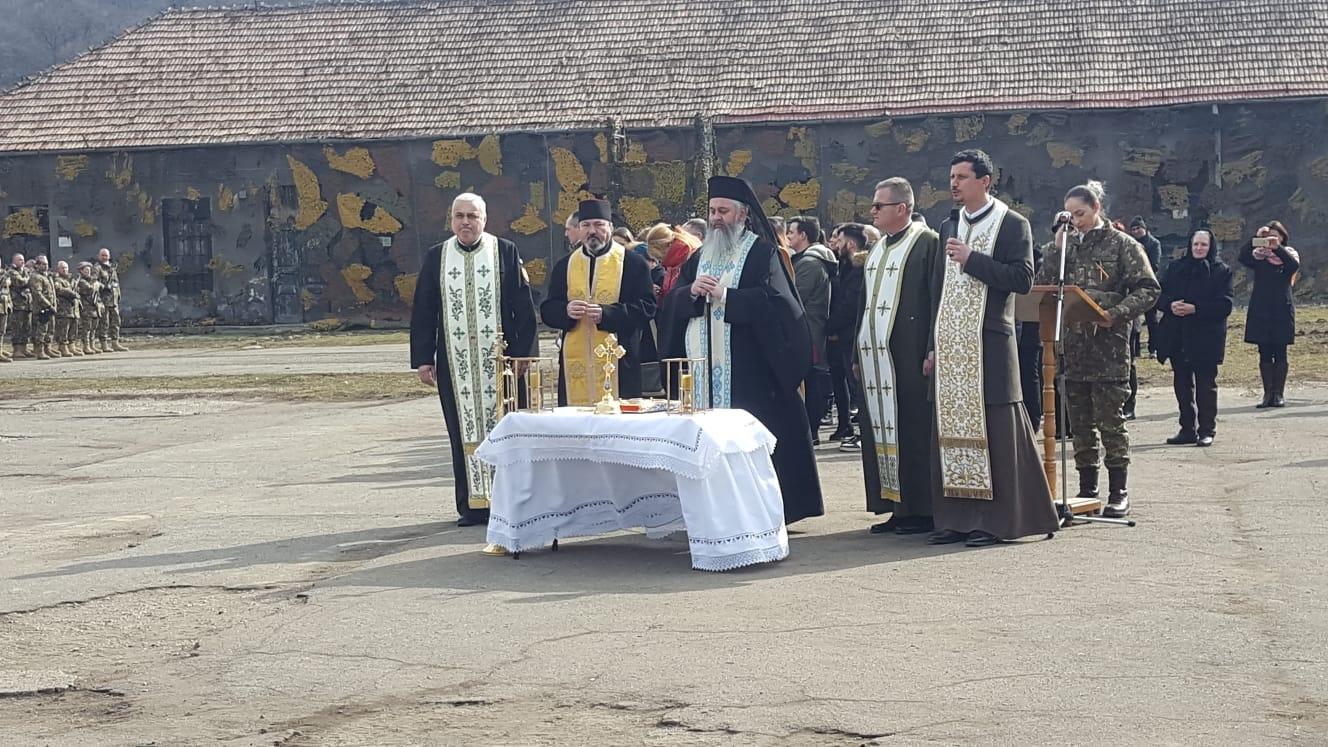 Exarhul Mănăstirilor din Arhiepiscopia Clujului prezent la ceremonia militară organizată cu ocazia sosirii din Afganistan a Batalionului 812