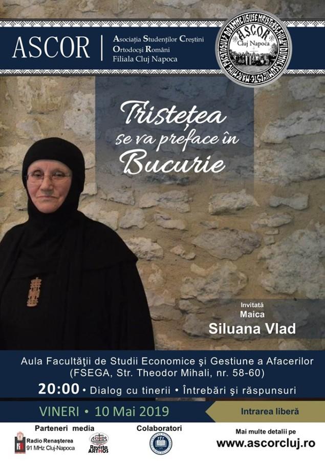 Tristețea se va preface în Bucurie! - Maica Siluana - Conferință A.S.C.O.R. Cluj