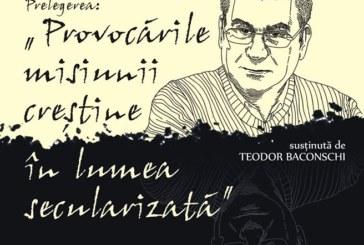 Prelegere despre secularizare a teologului Teodor Baconschi, la Muzeul Mitropoliei Clujului