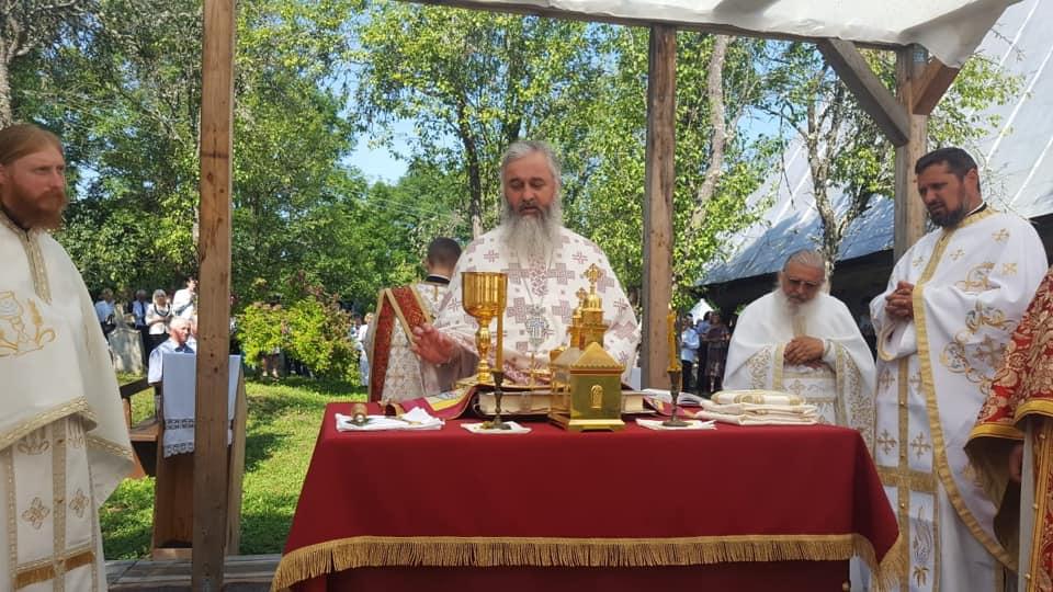 """Hramul Mănăstirii """"Sf. M. Mc. și Tămăduitor Pantelimon"""" din localitatea Dâncu"""