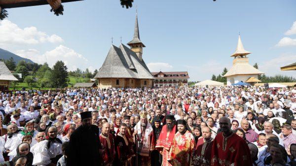Preasfinţitul Părinte Iustin, la hramul Mănăstirii Pietroasa-Borşa