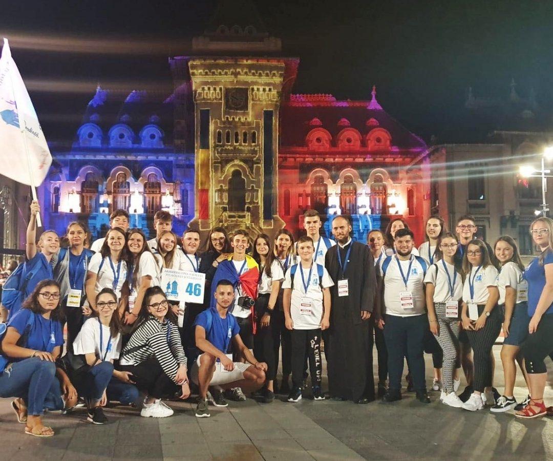 """Delegația Arhiepiscopiei Clujului la ITO 2019 Craiova – """"Un Potir al bucuriei"""" format din  mii de tineri"""