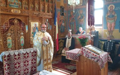 Slujire și comuniune, în parohia Cara