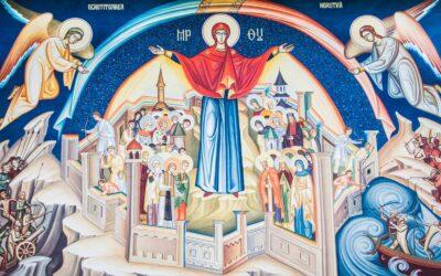 Acoperământul Maicii Domnului, în acatist și icoană