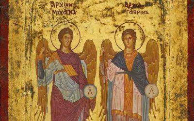 Sfinţii Arhangheli Mihail şi Gavriil în iconografie