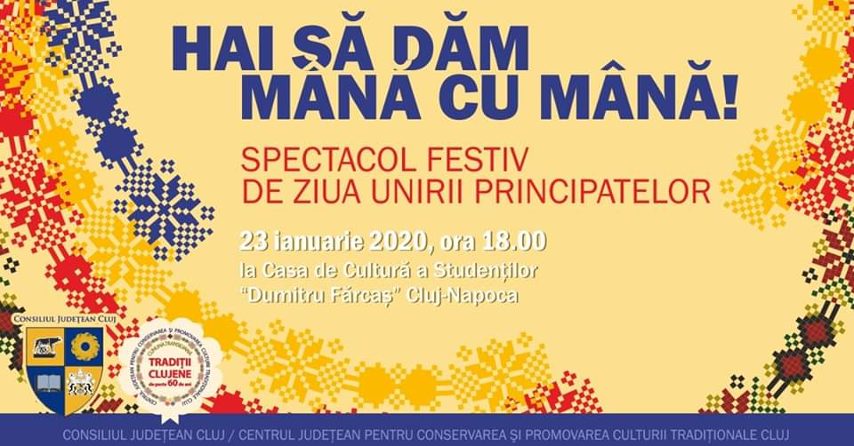 Ziua Unirii Principatelor Române, sărbătorită la Cluj printr-un spectacol folcloric