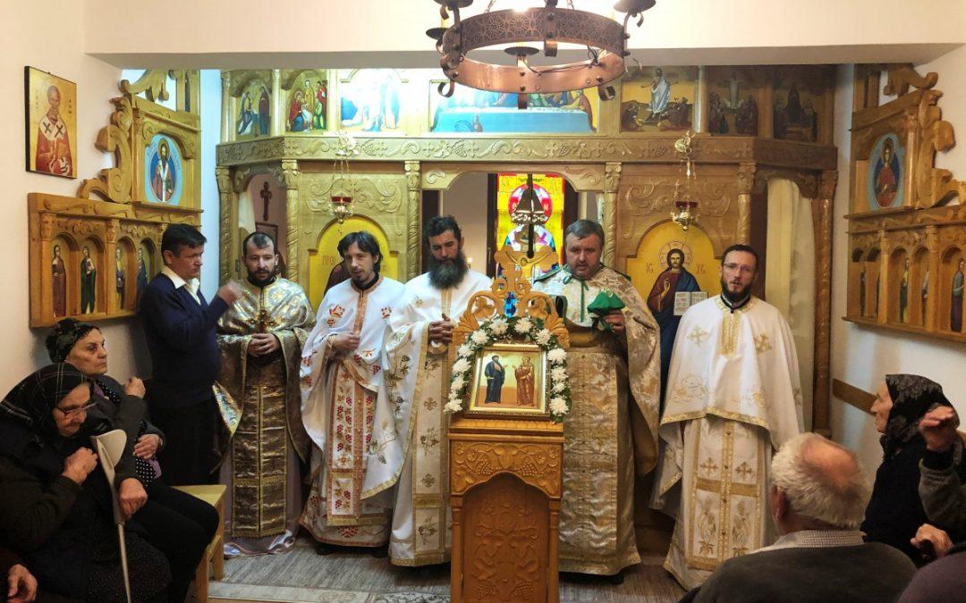 Vârstnicii de la Centrul rezidențial din Cușma, vizitați de preoții de pe Valea Țibleșului