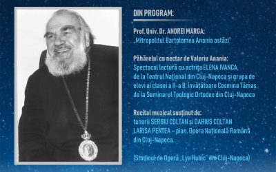 Invitație: Seară culturală dedicată memoriei Mitropolitului Bartolomeu Anania, la 9 ani de la trecerea în veșnicie
