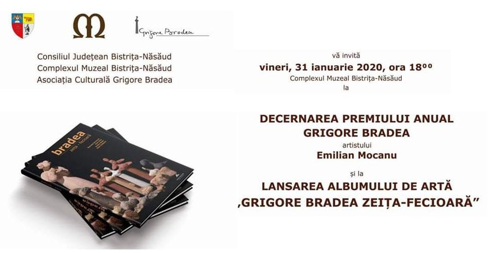 """Premiul Anual """"Grigore Bradea"""", decernat la Bistrița artistului Emilian Mocanu"""