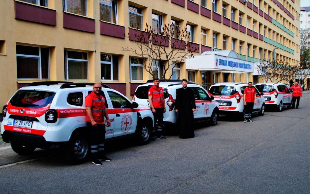Ambulanțele Filantropia Bistrița Năsăud. Sute de mii de kilometri pe an pentru bolnavii din județ