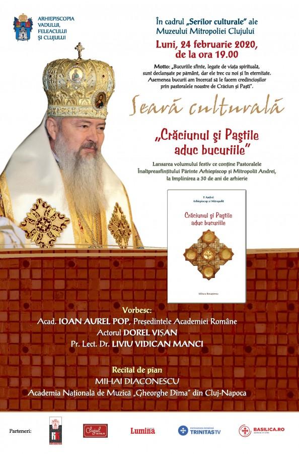 Invitație   Eveniment aniversar: 30 de ani de arhierie ai Înaltpreasfințitului Părinte Arhiepiscop și Mitropolit Andrei