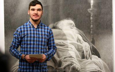 Lucrări de grafică ale tânărului artist Theodor Romilă, majoritatea cu tematică religioasă, expuse la Turda
