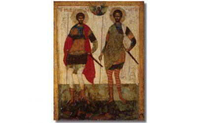 Sfinţii Teodori Stratilat și Tiron în imnografie și iconografie