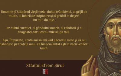 Tâlcuire la Rugăciunea Sf. Efrem Sirul. 1 Duhul trândăviei