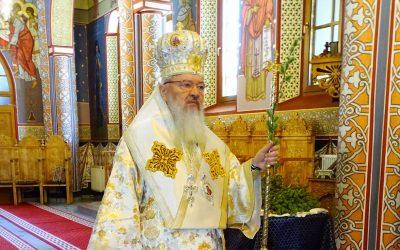 Duminica Floriilor, sărbătorită la Mănăstirea Florești, în prezența Mitropolitului Andrei