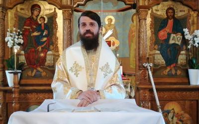 """""""Țelul vieții noastre este acela de a-L întâlni pe Hristos Cel înviat"""", a spus astăzi Episcopul Benedict la Mănăstirea Cășiel"""