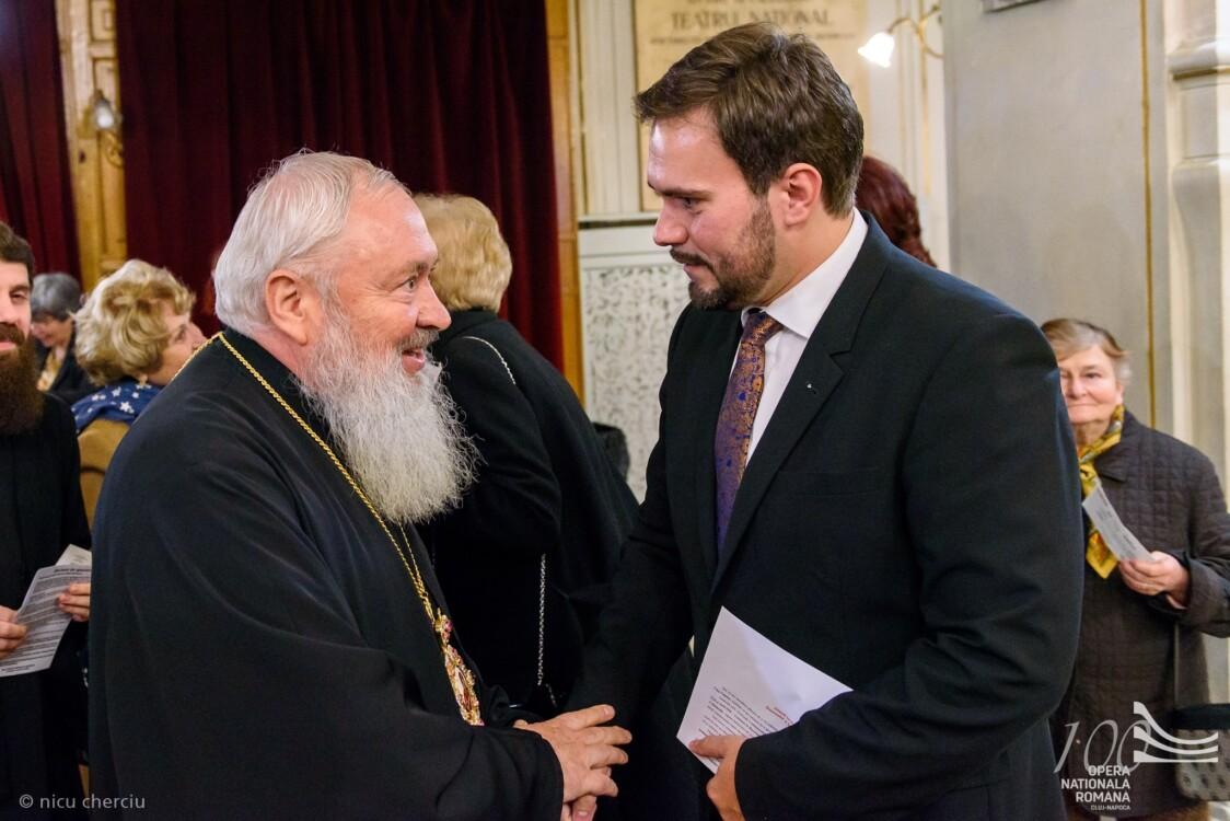Părintele Mitropolit Andrei și Florin Estefan, directorul Operei din Cluj