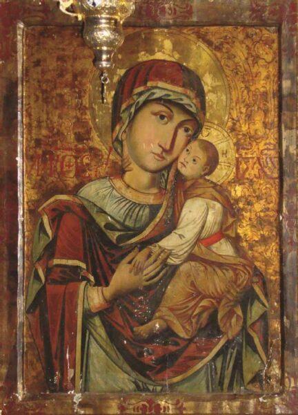 Luca din Iclod, Maica Domnului cu Pruncul, 1673, Mănăstirea Strâmba