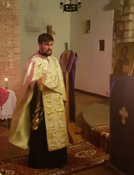 Pr. Maxim la Biserica din Montefiascone (regiunea Orvieto, Italia)