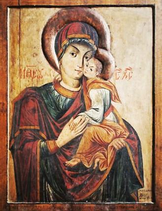 Luca din Iclod, Maica Domnului cu Pruncul, 1673, Catedrala Mitropolitană, Cluj-Napoca