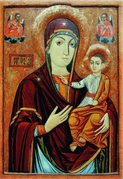 Luca din Iclod, Maica Domnului cu Pruncul, 1689, Mănăstirea Nicula