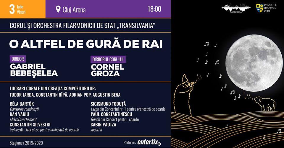 """,,O altfel de gură de Rai"""", concert de inspirație folclorică pe Cluj Arena"""