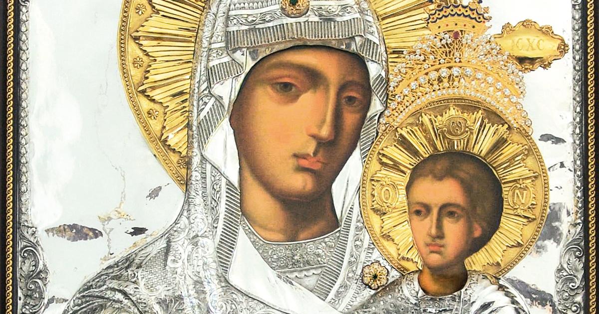 """Icoana Maicii Domnului """"Prodromiţa"""" de la Mănăstirea Sfânta Elisabeta din Cluj-Napoca"""