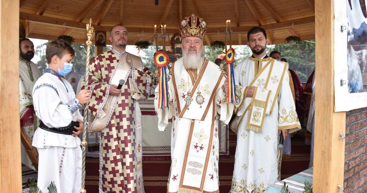 """Hramul Mănăstirii """"Crucea Iancului"""" de la Mărișel, sărbătorit în prezența Mitropolitului Andrei"""