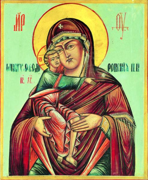 """Icoana Maicii Domnului """"Eleusa"""" de la Mănăstirea """"Sfântul Evanghelist Luca"""" Dobric"""