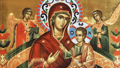 """Icoana Maicii Domnului """"Pantanassa"""", Vindecatoarea de cancer, de la Mănăstirea Nușeni"""