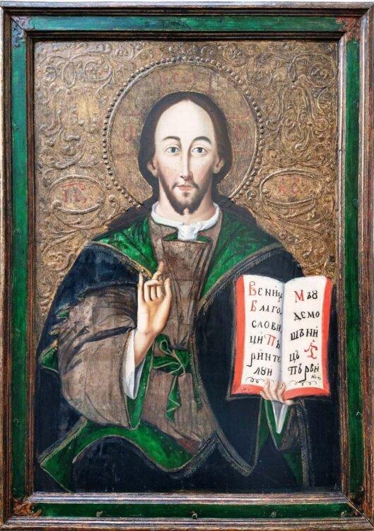 """Icoana """"Iisus Pantocrator"""", pictată în urmă cu 250 de ani, exponatul lunii septembrie la Muzeul Mitropoliei Clujului"""