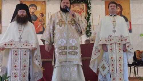 Târnosirea bisericii Schitului Marca