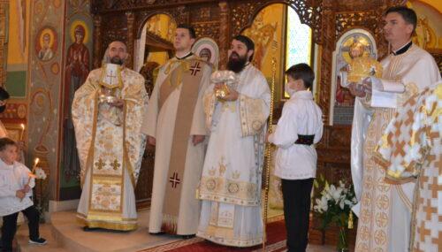 """Hramul bisericii parohiale """"Sf. M. Mc. Dimitrie, Izvorâtorul de Mir"""" din Baciu"""