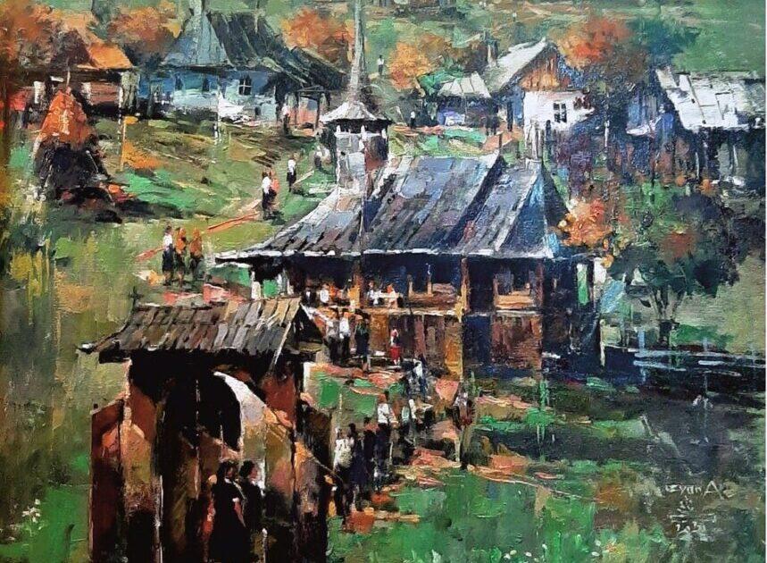 """Expoziția """"Pe cărări transilvănene"""", vernisată la Cluj-Napoca. Un loc aparte în tablouri îl ocupă biserica"""
