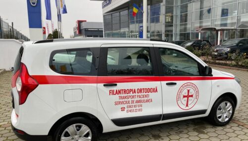 """O nouă mașină în dotarea Serviciului de Ambulanță """"Filantropia Ortodoxă"""" Bistrița"""