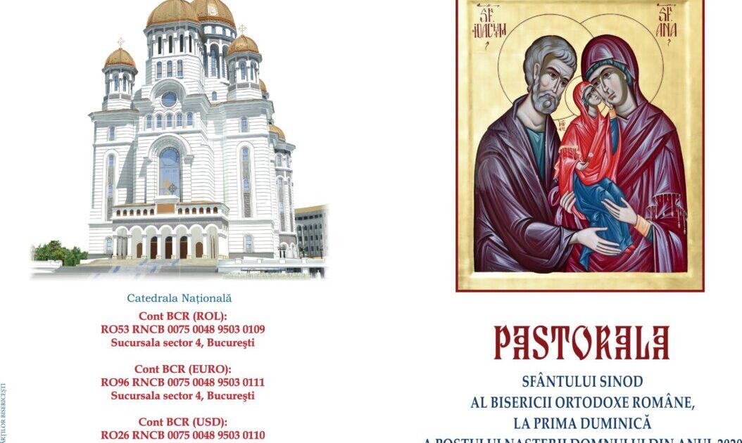 Pastorala Sfântului Sinod al Bisericii Ortodoxe Române, la prima Duminică a Postului Nașterii Domnului din anul 2020