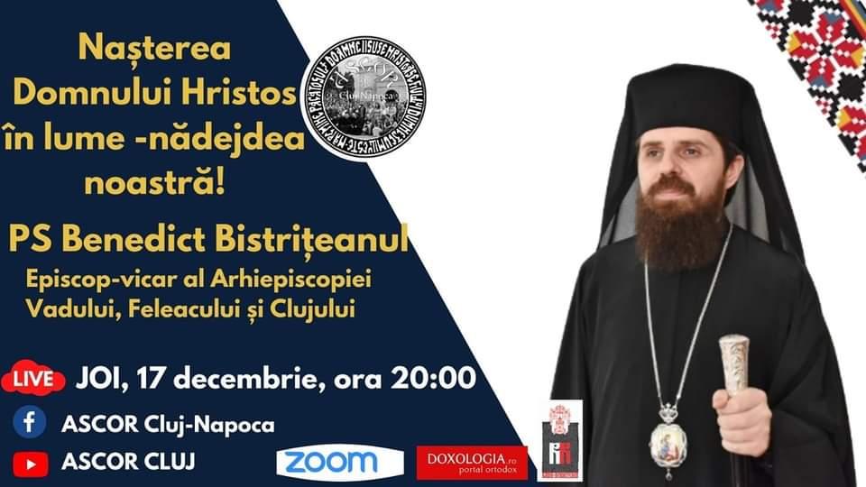 """VIDEO   """"Naşterea Domnului Hristos în lume – nădejdea noastră"""", conferința susținută de Preasfințitul Părinte Benedict Bistrițeanul"""