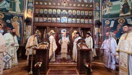 Sfântul Ierarh Spiridon, ocrotitorul Mănăstirii bistrițene Strâmba, prăznuit în prezența Mitropolitului Clujului