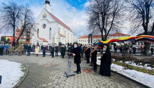162 de ani de la Mica Unire, marcați la Bistrița printr-un ceremonial militar-religios
