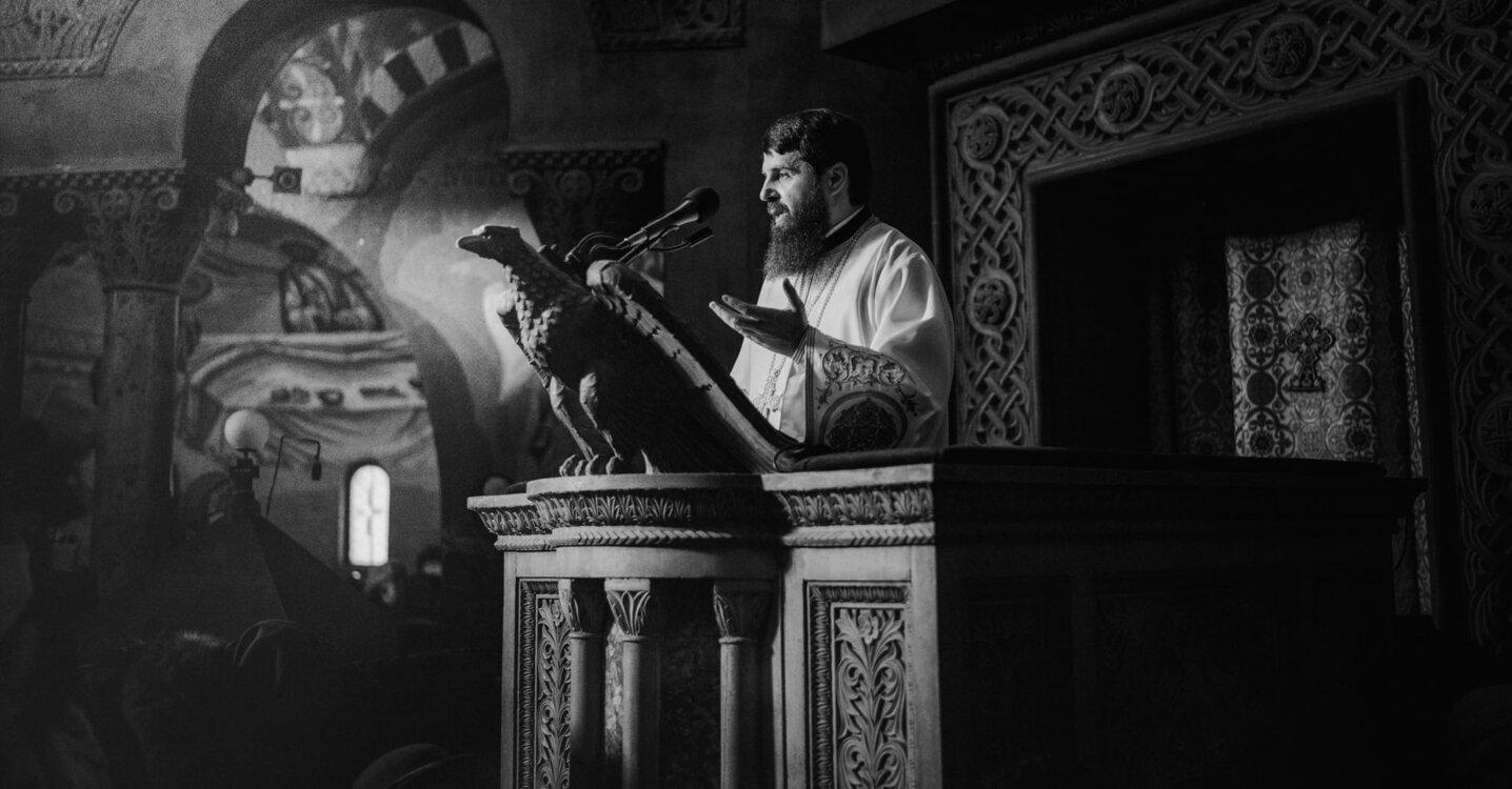 În amvonul Catedralei Mitropolitane din Cluj-Napoca