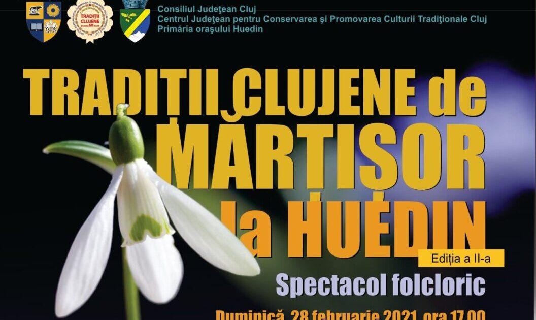 La Huedin, în prag de primăvară, spectacol folcloric și lansare de carte