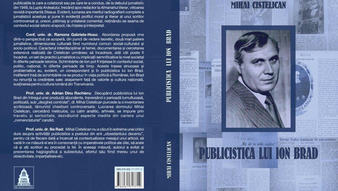 Ion Brad – un scriitor și un diplomat aparte al zilelor noastre – Maxim Morariu în dialog cu dr. Mihai Cistelican