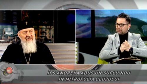 """(VIDEO) Emisiunea REGIUNEA ÎN OBIECTIV, la TVR Cluj: """"Mitropolitul Andrei, un deceniu de slujire la Cluj"""""""